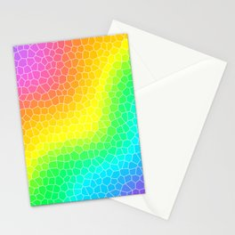 Wiggly Rainbow Gradient Dragon Scale Design! Stationery Cards