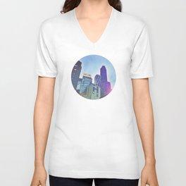 NYC CNN building skyline Unisex V-Neck