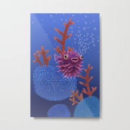 Balloon fish Metal Print