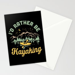 I'd Rather Be Kayaking Stationery Cards
