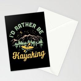 I'd Rather Be Kayaking Stationery Cards