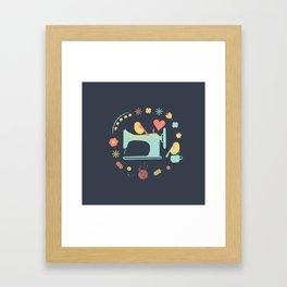 Love sewing Framed Art Print