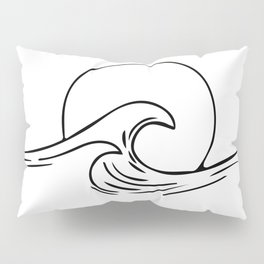 Waves Minimal art Pillow Sham