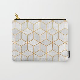 White Cubes Carry-All Pouch
