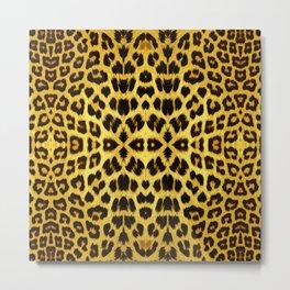 Leopard Print - Gold Metal Print