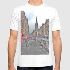 Edinburgh MEDIUM White Mens Fitted Tee