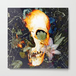 The Merry Skull Metal Print