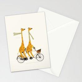 lets tandem giraffes Stationery Cards