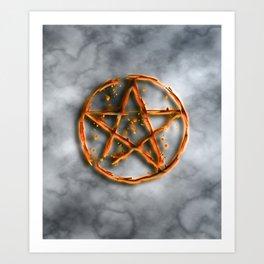 Supernatural devil's trap Art Print