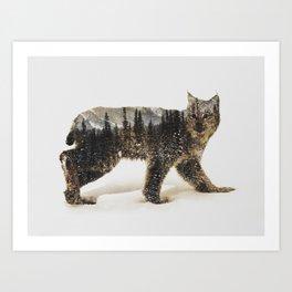 Arctic Lynx Art Print