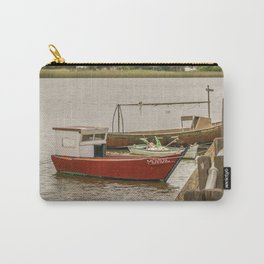 Fishing Boats at Santa Lucia River in Montevideo, Uruguay Carry-All Pouch