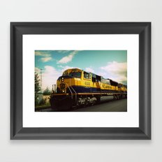Alaska train Framed Art Print