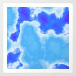 powder blue and indigo sky Art Print