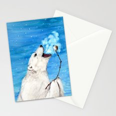 Polar Bear with Toasted Marshmallow Stationery Cards