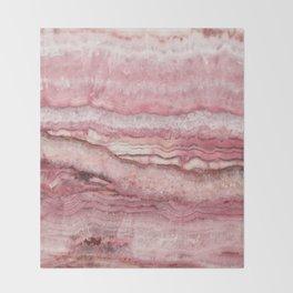 Mystic Stone Blush Throw Blanket
