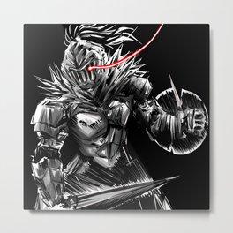 black knight in berserk madness Metal Print