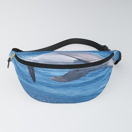 Wild bottlenose dolphin jumping off the Canary Islands Fanny Pack