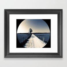 raised on a dirt road Framed Art Print