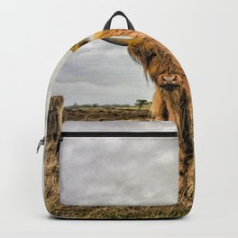 Hairy Higland Cow - A cute and fluffy gift for a Scotland lover Backpack