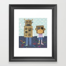 cardboard boxes. Framed Art Print