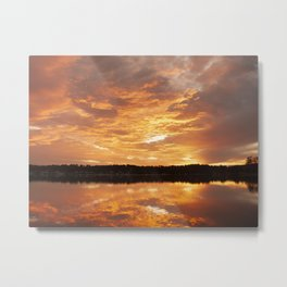 Orange stratocumulus cloud Sunrise Seascape Australia Metal Print