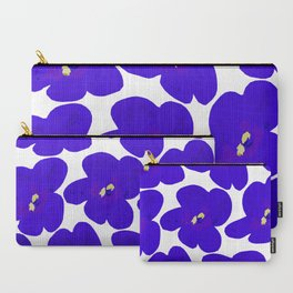 Blue Retro Flowers #decor #society6 #buyart Carry-All Pouch