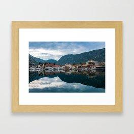 Kotor Bay - Town Framed Art Print