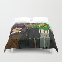 ass Duvet Covers featuring Kick-Ass by guissëpi