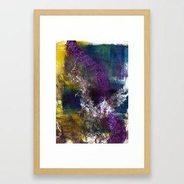 """Hidden Fairies"" Monotype/Printmaking/Painting Framed Art Print"
