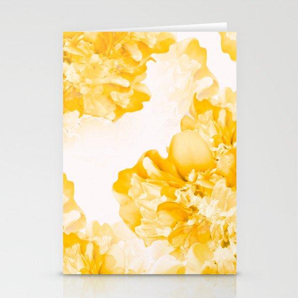 Beautiful Peony Flowers White Background #decor #society6 #buyart Stationery Cards