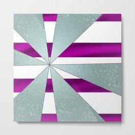 4Shades Glass: Purple White Metal Print