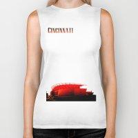 cincinnati Biker Tanks featuring Cities Of America: Cincinnati  by Brandon sawyer