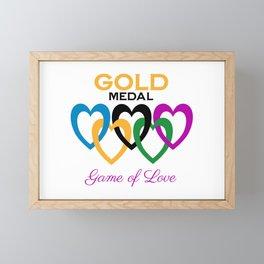 Gold Medal Game of Love Framed Mini Art Print