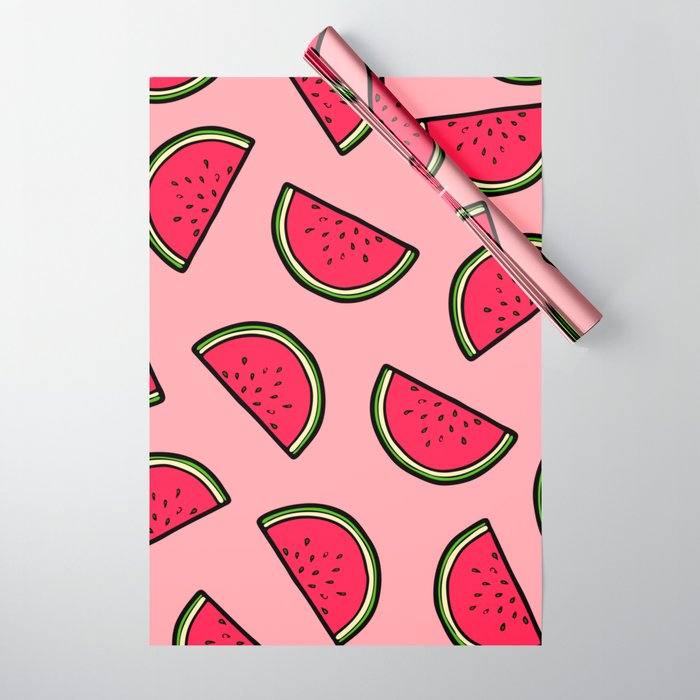 Watermelon Pattern in Pink Wrapping Paper
