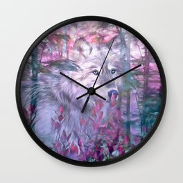 Forest Ghost Wall Clock