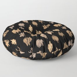Strokes of brown paint Floor Pillow