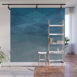 Imperial Blue Pastel - Triangles Minimalism Geometry Wall Mural