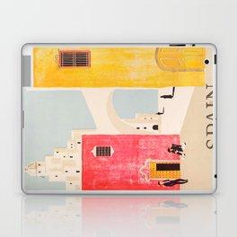 Spain Vintage Travel Poster Mid Century Minimalist Art Laptop & iPad Skin