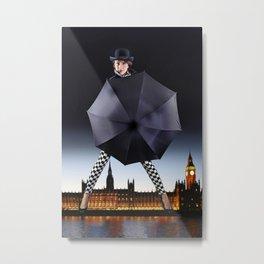 London Woman and Big Ben. Metal Print