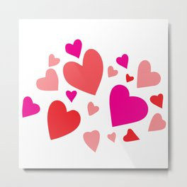 Decorative paper heart Metal Print