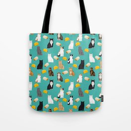 Cat breed tacos and burritos cute kitty lover pet gifts must have mexican food night Tote Bag