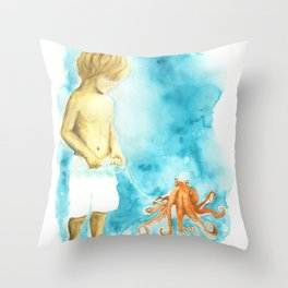 Walktapus Throw Pillow