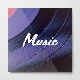 Music on Record. (Purple) Metal Print