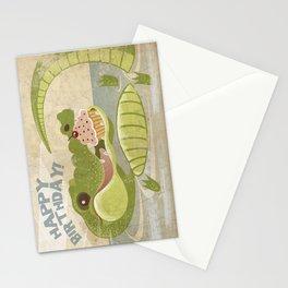 Alligator Happy Birthday  Card Stationery Cards