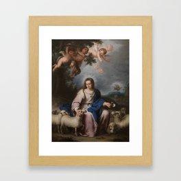 LORENTE GERMÁN, BERNARDO Sevilla, 1680 - Sevilla, 1759 The Virgin as a Shepherdess Ca. 1732 Framed Art Print