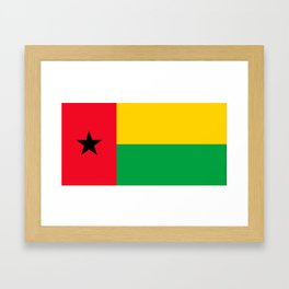 Flag of Guinea-Bissau Framed Art Print