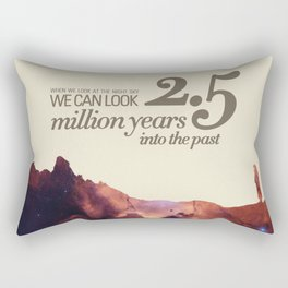 LOOK INTO THE PAST - Andromeda | Space | Time | Stars | Science | Planets | Million | Years | Travel Rectangular Pillow