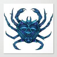crab Canvas Prints featuring Crab by Britney Elizabeth