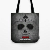 calavera Tote Bags featuring Calavera by UrsusUnlimited