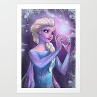 elsa Art Prints featuring Elsa by Red Red Telephone